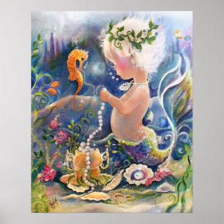 Poster de la sirena del bebé