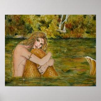 Poster de la sirena del lago cristalino por Renee