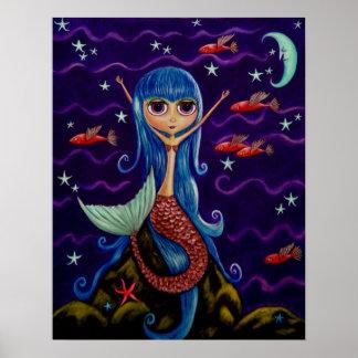 Poster de la sirena del pez volador póster