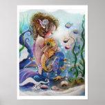 POSTER de la sirena y del Seahorse del bebé