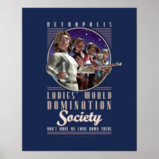 Poster de la sociedad de la dominación del mundo d