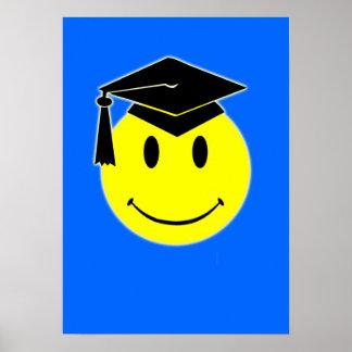 Poster de la sonrisa de la graduación