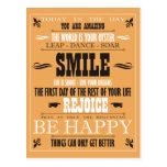 Poster de la sonrisa del vintage postal