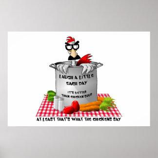 Poster de la sopa de pollo