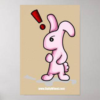 Poster de la sorpresa del conejito