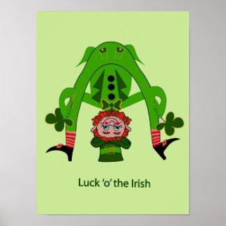 Poster de la suerte del Leprechaun