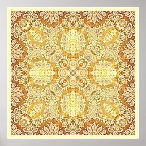 Poster de la tapicería 3 del limón de Kreations de
