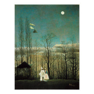 Poster de la tarde del carnaval de Henri Rousseau