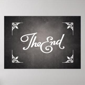 Poster de la tarjeta de título del final