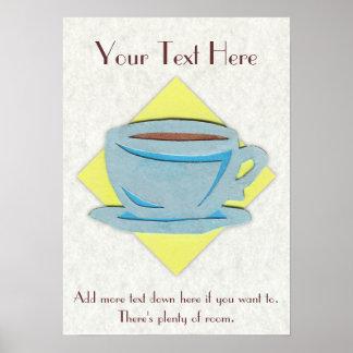 Poster de la taza de café