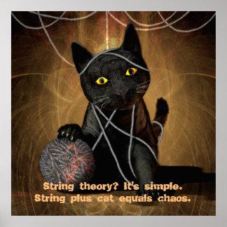 Poster de la teoría de la secuencia del gato