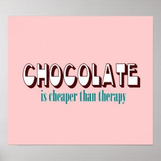 Poster de la terapia del chocolate póster