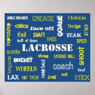 ¡Poster de la terminología de LaCrosse! Póster