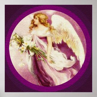 Poster de la textura del ángel de Pascua del vinta