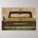 Poster de la textura del vintage del camión de Che