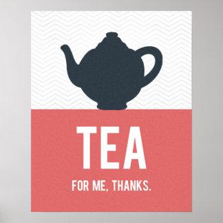 Poster de la tipografía del té, cocina moderna, pe