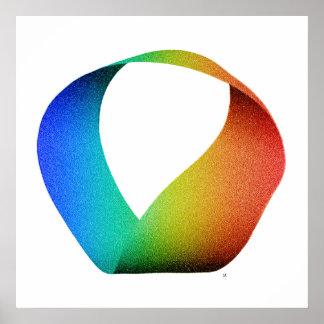 Poster de la tira de Mobius del arco iris