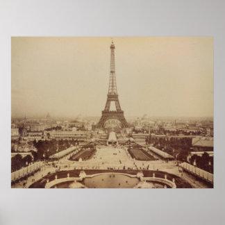 Poster de la torre Eiffel y del Champ de Mars