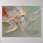 Poster de la tortuga de mar del 148:7 del salmo