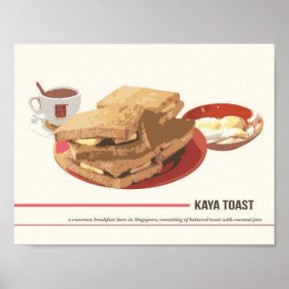 Poster de la tostada de Kaya