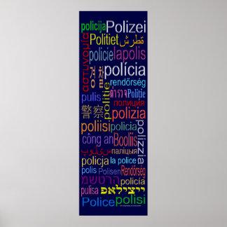 Poster de la traducción de la policía