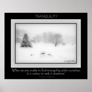 Poster de la tranquilidad póster
