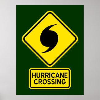 Poster de la travesía del huracán