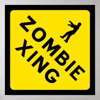 Poster de la travesía del zombi