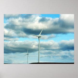 Poster de la turbina de viento