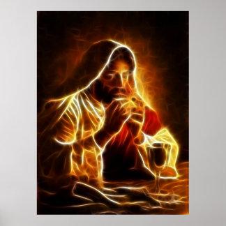 Poster de la última cena del Jesucristo