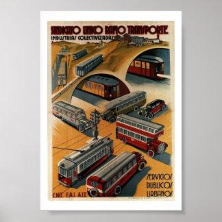 Poster de la unión del transporte público