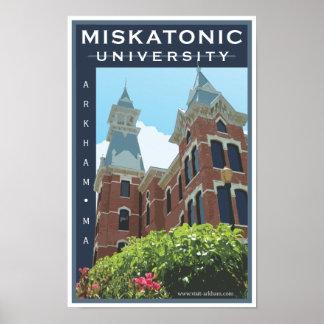Poster de la universidad de Miskatonic