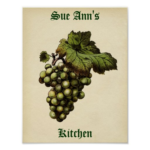 Poster de la uva del vintage póster