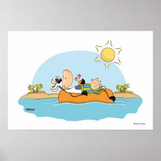 Poster de la vaca de las vacaciones de verano