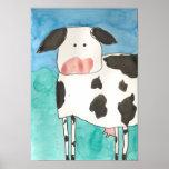 Poster de la vaca póster