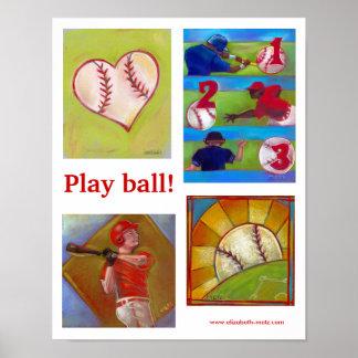 Poster de la variedad del béisbol póster