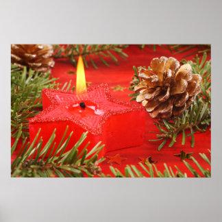 Poster de la vela del navidad