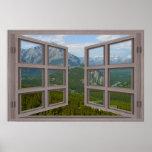 Poster de la ventana abierta del cristal de Banff