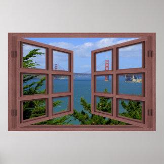 Poster de la ventana abierta del cristal de San
