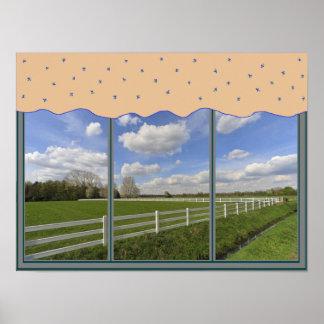 Poster de la ventana de la vida del rancho