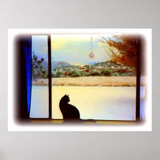 Poster de la ventana del invierno de Tosca
