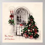 Poster de la ventana del navidad