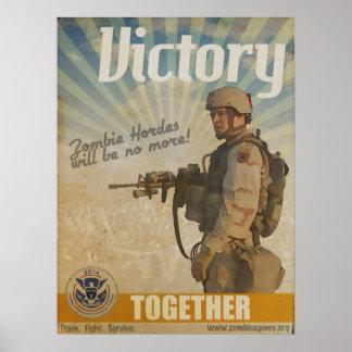 Poster de la victoria del zombi de la ZETA