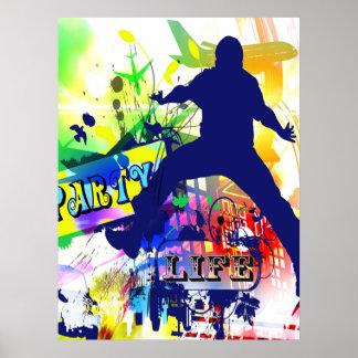 Poster de la vida del fiesta póster
