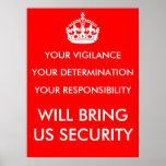 Poster de la vigilancia, de la determinación y de