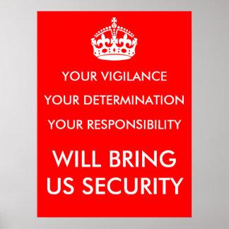 Poster de la vigilancia de la determinación y de