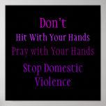 Poster de la violencia en el hogar