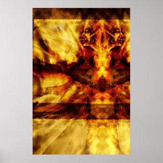 Poster de la vuelta de soplo del polvo de diamante