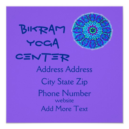 Poster de la yoga póster