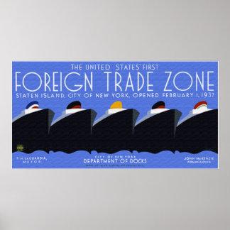 Poster de la zona de comercio exterior
